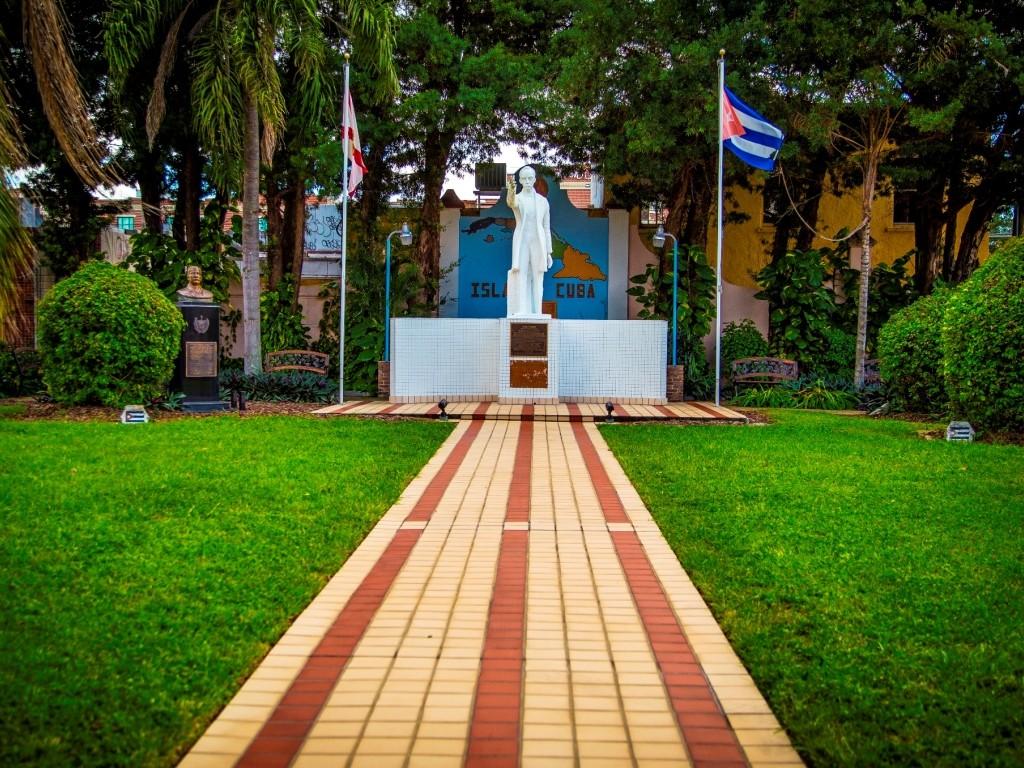 The Jose Marti park in Ybor City invites guest into Tampa's little piece of Cuba